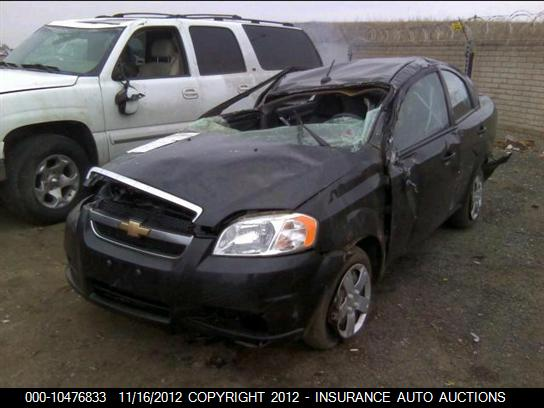 Chevrolet Aveo Sedan 2010 For Parts Exreme Auto Parts