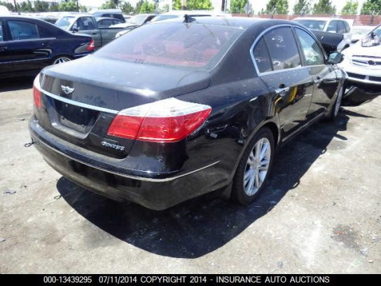 hyundai genesis sedan 2011 for parts exreme auto parts. Black Bedroom Furniture Sets. Home Design Ideas